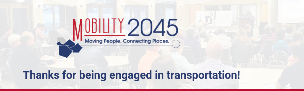 Mobility 2045 carousel graphic